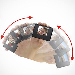Ramka cyfrowa wielkości karty kredytowej - Shake-A-Pix