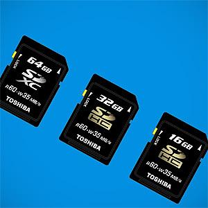 Toshiba zapowiada szybkie i pojemne karty pamięci SDXC i SDHC