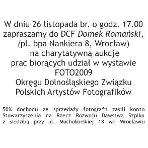 Charytatywna aukcja fotografii w Dolnośląskim Centrum Fotografii
