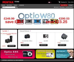Ruszył pierwszy z zapowiadanych sklepów Pentaksa - Pentax Store UK