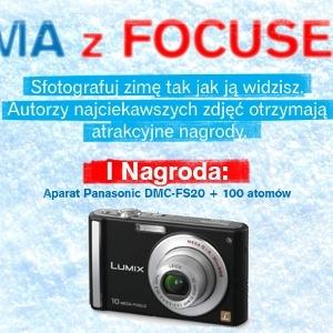 """Wygraj aparat Panasonic DMC-FS20 i książki National Geographic w konkursie """"Zima z Focusem"""""""