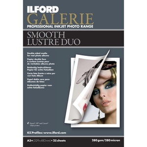 Nowy dwustronny papier do druku atramentowego - ILFORD GALERIE Smooth Lustre Duo
