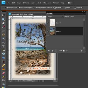 Tutorial wideo: zdjęcie w ramce - Adobe Photoshop Elements 8