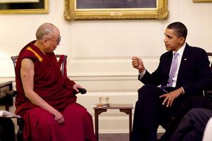 Dalajlama i Barack Obama - oficjalne zdjęcie powodem krytyki ze strony Associated Press
