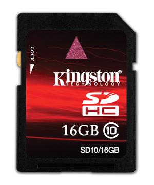 Kingston prezentuje karty SDHC klasy 10