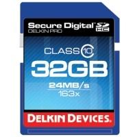 Delkin Pro Secure Digital Class 10 163x - cztery nowe karty SDHC