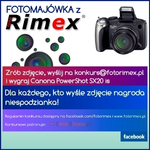 Canon PowerShot SX20 IS do wygrania! Konkurs- Fotomajówka