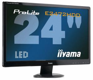 iiyama E2472HDD - 24 cale, szybki czas reakcji i podświetlenie LED