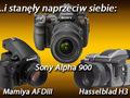 ... i stanęły naprzeciw siebie Hasselblad H3, Mamiya AFDIII, Sony Alpha 900 - test porównawczy