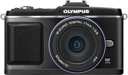 """Olympus E-P2 z czarnym """"naleśnikiem"""" i czarną lampą błyskową. Nowe zestawy"""