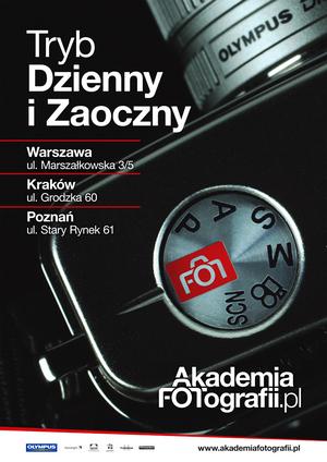 Akademia Fotografii - rekrutacja do Studium Dziennego i Zaocznego w Warszawie, Krakowie i Poznaniu