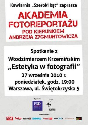 Akademia Fotoreportażu - spotkanie z Włodzimierzem Krzemińskim