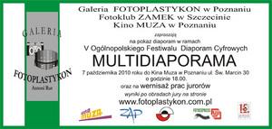 V Ogólnopolski Festiwal Diaporam Cyfrowych - pokaz w kinie Muza w Poznaniu