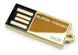Super Talent Pico-C, czyli miniaturowe 64 GB w złocie