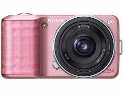 Różowy Sony NEX-3