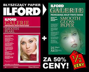 Błyszczący papier ILFORD za pół ceny