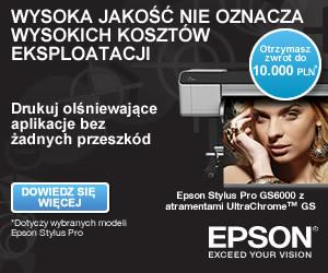 Epson przedłuża promocję cash-back na wielkoformatowe drukarki