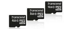 Transcend prezentuje nowe karty microSDHC