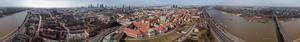 Panoramy Warszawy 360 z latawca i balonu