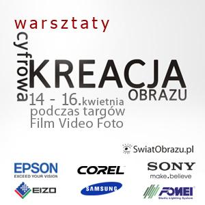 Warsztaty z cyklu Cyfrowa Kreacja Obrazu na targach FILM VIDEO FOTO 2011 - relacja