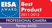 Pentax 645D z nagrodą EISA 2011/2012