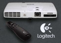 Ultraprzenośne projektory Epson EB-1700 z prezenterem Logitech R400 gratis