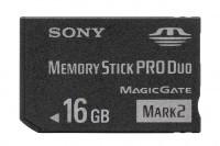 16GB na karcie Memory Stick PRO Duo