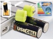 USBCELL, czyli baterie ładowane przez port USB