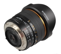 Samyang AE 8 mm f/3.5 Aspherical IF MC Fish-eye CS z mikroprocesorem dla Nikona