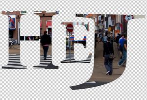 Adobe Photoshop Elements 10: Tworzenie napisu ze zdjęcia