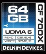 Karty CompactFlash firmy Delkin z prędkością 700x