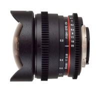 Samyang 8mm T3.8 Fish-eye CS dla filmujących lustrzankami