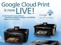 Canon dodaje funkcjonalność Google Cloud Print w niektórych drukarkach Pixma