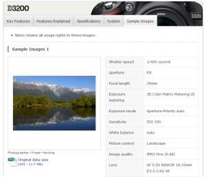 Nikon D3200 - oficjalne zdjęcia przykładowe