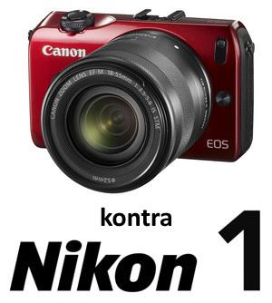 Canon EOS M kontra Nikon J1 i V1 - przegląd możliwości