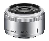 Bezlusterkowy system Nikon 1 uzupełniony o obiektyw Nikkor 18.5 mm f/1.8