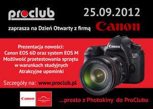 Planujesz zakup lustrzanki Canon EOS 6D albo bezlusterkowca EOS M? Przyjdź na dzień otwarty