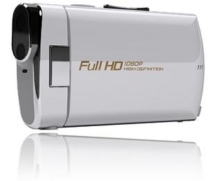 Cztery niewielkie kamery z logo Polaroid