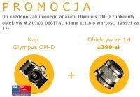 Planujesz zakup bezlusterkowca Olympus OM-D E-M5? Od 2 listopada za złotówkę dostaniesz też obiektyw 45 mm f/1.8