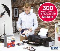 Trzysta arkuszy papieru Epson Glossy Photo gratis przy zakupie drukarki Epson L800