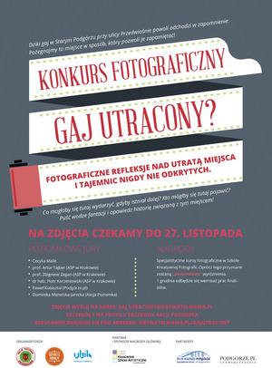 """Jesteś z Krakowa? Tylko do jutra możesz wziąć udział w konkursie """"Gaj utracony"""""""