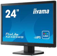 24-calowe monitory iiyama XB2485WSU i X2485WS z IPS i stosunkiem boków 16:10