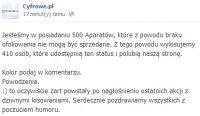 """Cyfrowe.pl """"rozdają"""" ponad 400 aparatów na Facebooku"""
