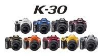 Pentax K-30 w różnych kolorach, różnych wykończeniach