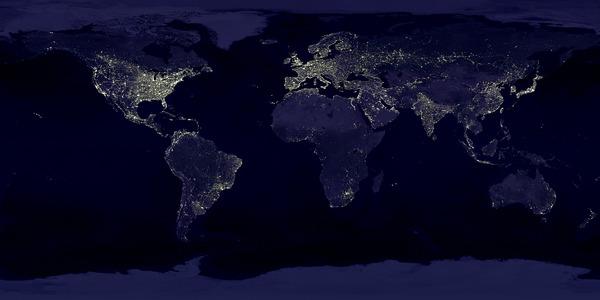100 najbardziej zaskakujących NASA Ziemia nocą