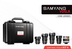 Obiektywy Samyang V-DSLR w zestawach z walizkami