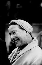 Simone de Beauvoir w obiektywie Antanasa Sutkusa