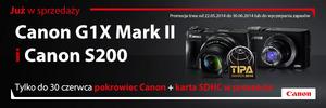 Aparaty Canon PowerShot G1 X Mark II i PowerShot S200 z akcesoriami w prezencie