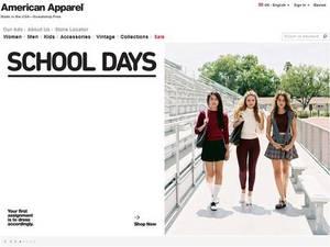 Powrót do szkoły na zdjęciach American Apparel - seks przestał sprzedawać