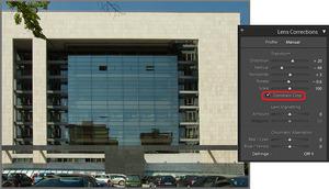 Korekcja wad optycznych na zdjęciach w  Adobe Photoshop Lightroom dla początkujących